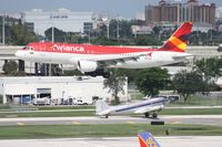 N451AV @ FLL - New meets old - Avianca A320 with DC-3 waiting to take off