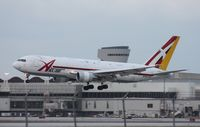 N797AX @ MIA - ABX 767 with paint peeling and a hybrid ABX/DHL tail