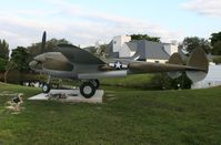 42-03993 @ MIA - If anyone has any info on this bird, please let me know so I can build a real profile.  I was told by someone that this was not a real plane - this plane is located at the 94th Aero Squadron Restaurant by Miami International Airport - by Florida Metal