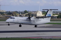 9H-AFD @ LMML - Dash8 9H-AFD performing a United Nations Humanitarian Flight from Libya. - by raymond
