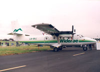 LN-BNJ @ FAB - Wideroe , Farnborough Air Show - by Henk Geerlings