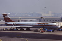 DDR-SEL @ EHAM - iL-62M at Schiphol airport Amsterdam, early 1980 's - by Jan van Andel