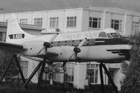 G-ANUO - This airframe sits at the front of the  Terminal building at the old Croydon Airport that closed in 1959 - the airframe was recovered from Biggin Hill and restored in the colours and marks G-AOXL of Morton Air Services to represent the last scheduled flig