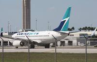 C-GTWS @ MIA - West Jet 737