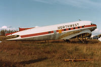 CF-BZI - Seen derelict at St. Albert, AB, Canada, in 1982, this DC-3 is now preserved with the Aerospace Museum in Calgary. - by John Meneely