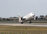A6-EMI @ LMML - take off to the east - by Loetsch Andreas