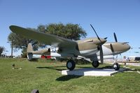 42-03993 @ MIA - P-38 in front of 94th Aerosquadron - by Florida Metal