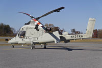 N131KA @ HKY - Kaman helicopter fueled up in Hickory.