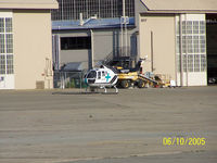 N8118Y @ KMCC - Calstar helo sitting on the tarmac at KMCC. - by BadWool