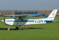 G-CEPX @ EGTO - 1983 Cessna 152, c/n: 152-85792 at Rochester, Kent - by Terry Fletcher