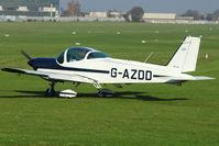 G-AZDD @ EGTO - 1971 Bolkow BO-209 Monsun 150FF, c/n: 143 at Rochester, Kent - by Terry Fletcher