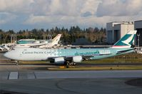 B-LJA @ KPAE - KPAE/PAE Cathay 3337 preparing for delivery