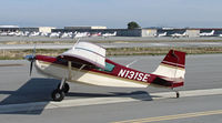 N131SE @ KSQL - Locally-based 2006 American Champion Aircraft 8GCBC running-up engine @ San Carlos, CA - by Steve Nation