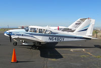 N6480Y @ KOAK - Technical Education Services 1967 Piper PA-23-250 Aztec on North Field ramp at Oakland, CA - by Steve Nation