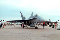 UNKNOWN @ NFW - F/A-18 of VX-4 (or VX-9) at the 1990 Carswell AFB Airshow. - by Zane Adams