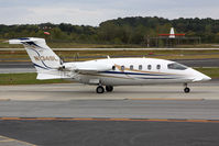N134SL @ PDK - Avantair Piaggio P180 Avanti N134SL taxiing to RWY 2R for departure to Jacksonville Int'l (KJAX). The friendly crew can be see waving to me as they taxi by. - by Dean Heald