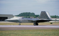 06-4108 @ EGVA - USAF F-22A Raptor, assigned to the 525 FS, seen here on the runway of RAF Fairford during the departure day of the RIAT 2010. - by Nicpix Aviation Press/Erik op den Dries