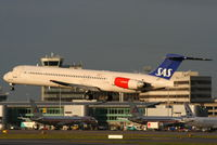 LN-RMM @ EGCC - Scandinavian Airlines - by Chris Hall