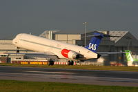 LN-RMM @ EGCC - Scandinavian Airlines - by Chris Hall