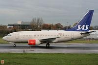 LN-RPB @ EGCC - Scandinavian Airlines - by Chris Hall
