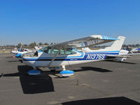N1376S @ KTLR - Locally-based 1976 Cessna 182P with cowl panel removed @ Mefford Field (Tulare), CA - by Steve Nation