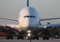 D-AIMF @ MIA - Lufthansa A380 head on