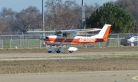 N6389G @ KTLR - Wasco, CA-based 1970 Cessna 150K touching down @ Tulare, CA - by Steve Nation
