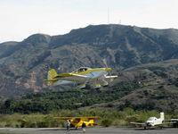 N115PM @ SZP - 2007 Pajares VAN's RV-6A, Lycoming O-360-A1A 180 Hp, takeoff climb Rwy 22 - by Doug Robertson