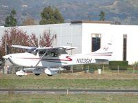 N123GH @ POC - Landing on runwat 26L - by Helicopterfriend