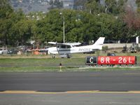 N442ES @ POC - Landing on runway 26R - by Helicopterfriend