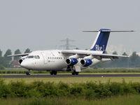 OH-SAH @ EHAM - Landing on runway R18 of Amsterdam Airport - by Willem Goebel