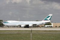 B-LIB @ MIA - Wind shifted again (5th and final time) and Runway 9 now open, means I could get Cathay departing from El Dorado Furniture
