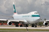 B-LIB @ MIA - Cathay Cargo turning onto runway