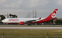 D-ALPA @ MIA - Air Berlin was one of the very few non cargo planes to depart on Runway 9 that day