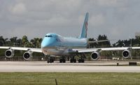 HL7601 @ MIA - Taken from El Dorado, this Korean Cargo 747 is holding short for departure on Runway 9