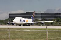 N429MC @ MIA - The wind had just shifted back to the east.  The Atlas 747 was taxiing to take off on 27, but turned around to take off on 9.