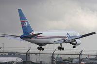 N741AX @ MIA - Amerijet 767 landing Runway 9