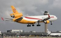 N952AR @ MIA - Sky Lease with Cargo City and tower behind