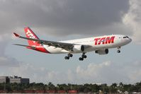 PT-MVV @ MIA - Brand new 2011 built TAM A330 doing a low approach for Runway 9