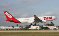 PT-MVV @ MIA - TAM A330 landing Runway 9 by El Dorado Furniture