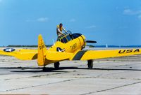 51-14987 @ OQU - North American AT-6 Texan 51-14987 at Quonset State Airport, North Kingstown, RI - circa 1980's - by scotch-canadian