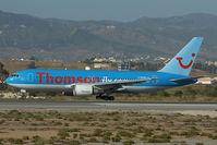 G-BYAB @ LEMG - Thomson Boeing 767-200