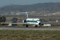 I-DAWH @ LEMG - Alitalia MD80
