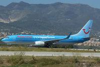 D-AHFT @ LEMG - Hapag Lloyd Boeing 737-800