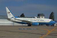 01-0041 @ LZIB - USAF Boeing 737-700