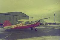 N82574 @ RIW - 1946 7AC Aeronca Champ, Riverton, Wyoming circa 1971. Owner: Jim Herrington - by Jim Herrington
