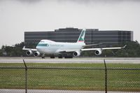 B-LIF @ MIA - Cathay Cargo 747 getting ready to depart after rain shower went through