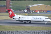 HB-JVE @ EGBB - Slowing down after arrival from Zurich - by Alex Butler-Bates