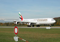 A6-ERS @ LSZH - Emirates A340 landing - by Loetsch Andreas