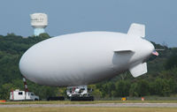 UNKNOWN @ KDAN - Navy Blimp found shelter In Danville Va. away from Hurricane Irene moving up the east coast August 26,2011. After flying over Danville letting everyone see that she has arrived the quiet running lady quietly settled down for her several days stay till sh - by Richard T Davis